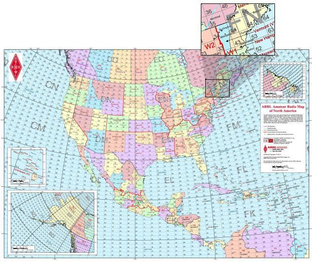 Other - Us map with grid